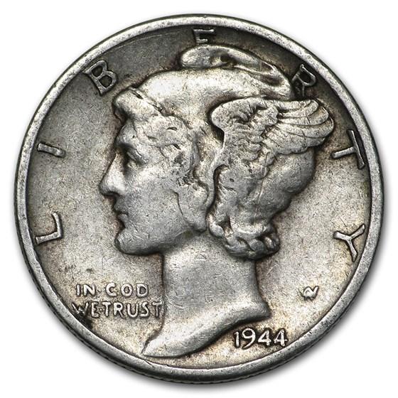 1944-D Mercury Dime Good/VF