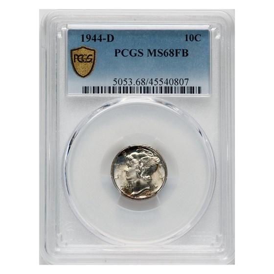1944-D Mercury Dime MS-68 PCGS (FB)