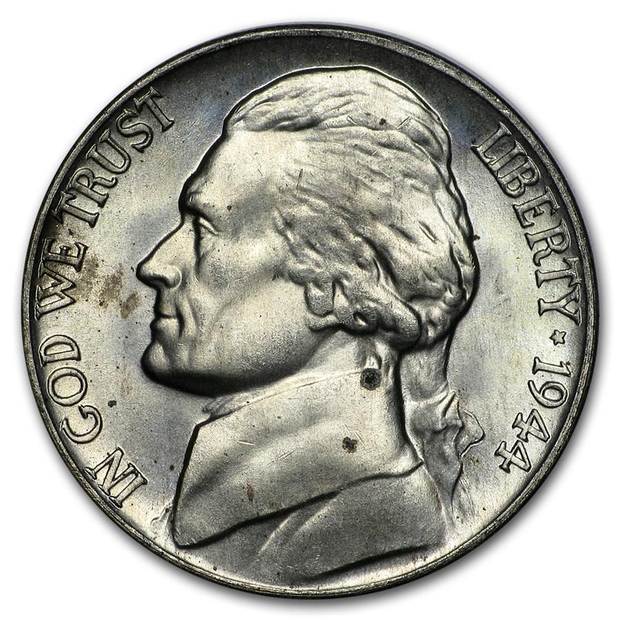 1944-D Silver Wartime Jefferson Nickel BU