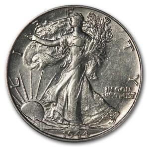 1944-D Walking Liberty Half Dollar AU