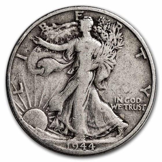1944-D Walking Liberty Half Dollar Fine/VF