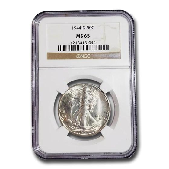 1944-D Walking Liberty Half Dollar MS-65 NGC