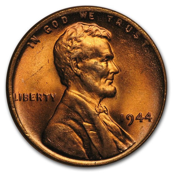 1944 Lincoln Cent BU (Red)