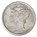 1944 Mercury Dime AU