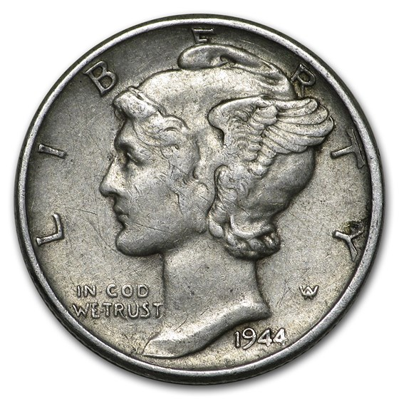 1944 Mercury Dime Good/VF