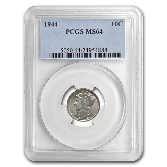 1944 Mercury Dime MS-64 PCGS