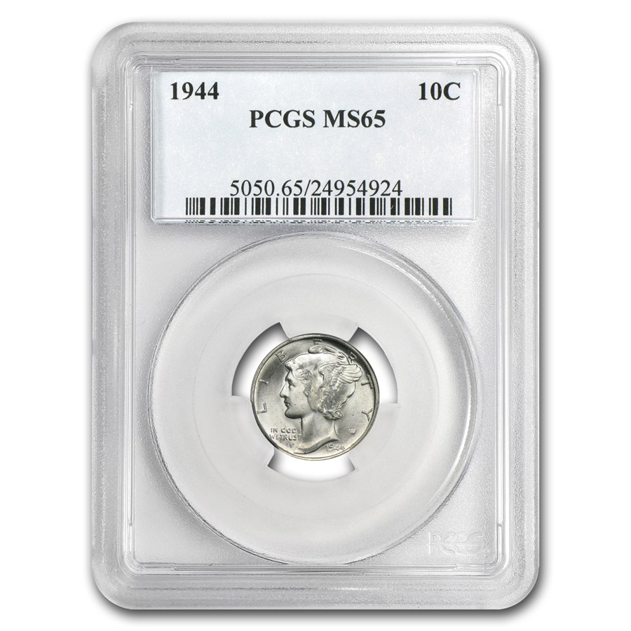 1944 Mercury Dime MS-65 PCGS