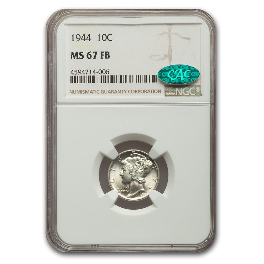 1944 Mercury Dime MS-67 NGC CAC (FB)