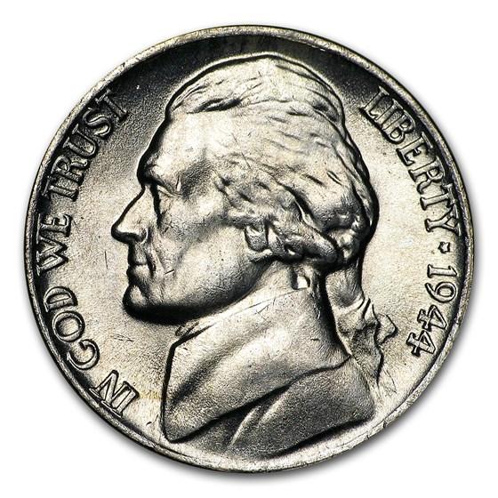 1944-P Silver Wartime Jefferson Nickel BU