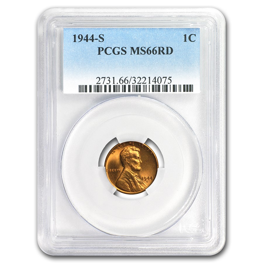 1944-S Lincoln Cent MS-66 PCGS (Red)