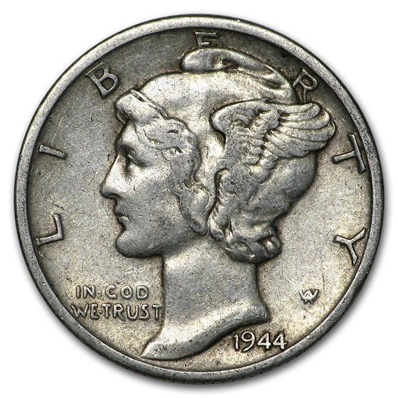 1944-S Mercury Dime Good/VF