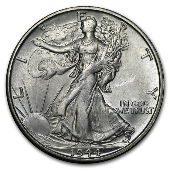 1944-S Walking Liberty Half Dollar BU