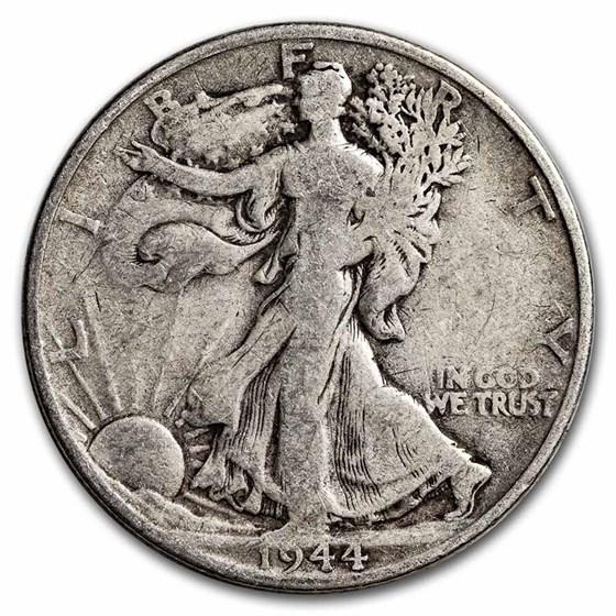 1944-S Walking Liberty Half Dollar Fine/VF