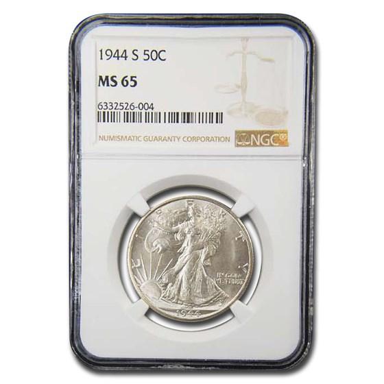 1944-S Walking Liberty Half Dollar MS-65 NGC