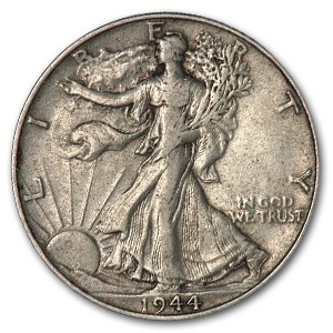1944 Walking Liberty Half Dollar XF