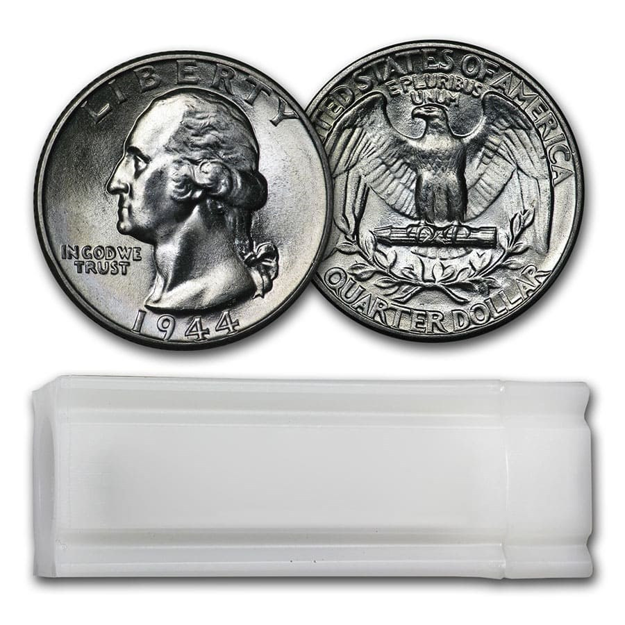 1944 Washington Quarter 40-Coin Roll BU
