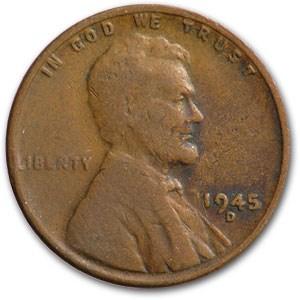 1945-D Lincoln Cent Fine+
