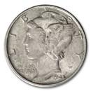 1945-D Mercury Dime AU