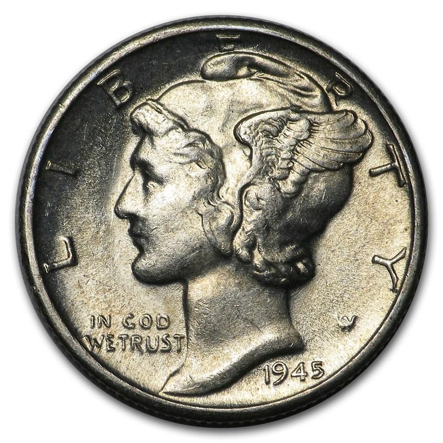 1945-D Mercury Dime BU