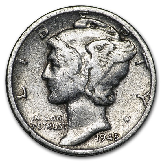 1945-D Mercury Dime Good/VF