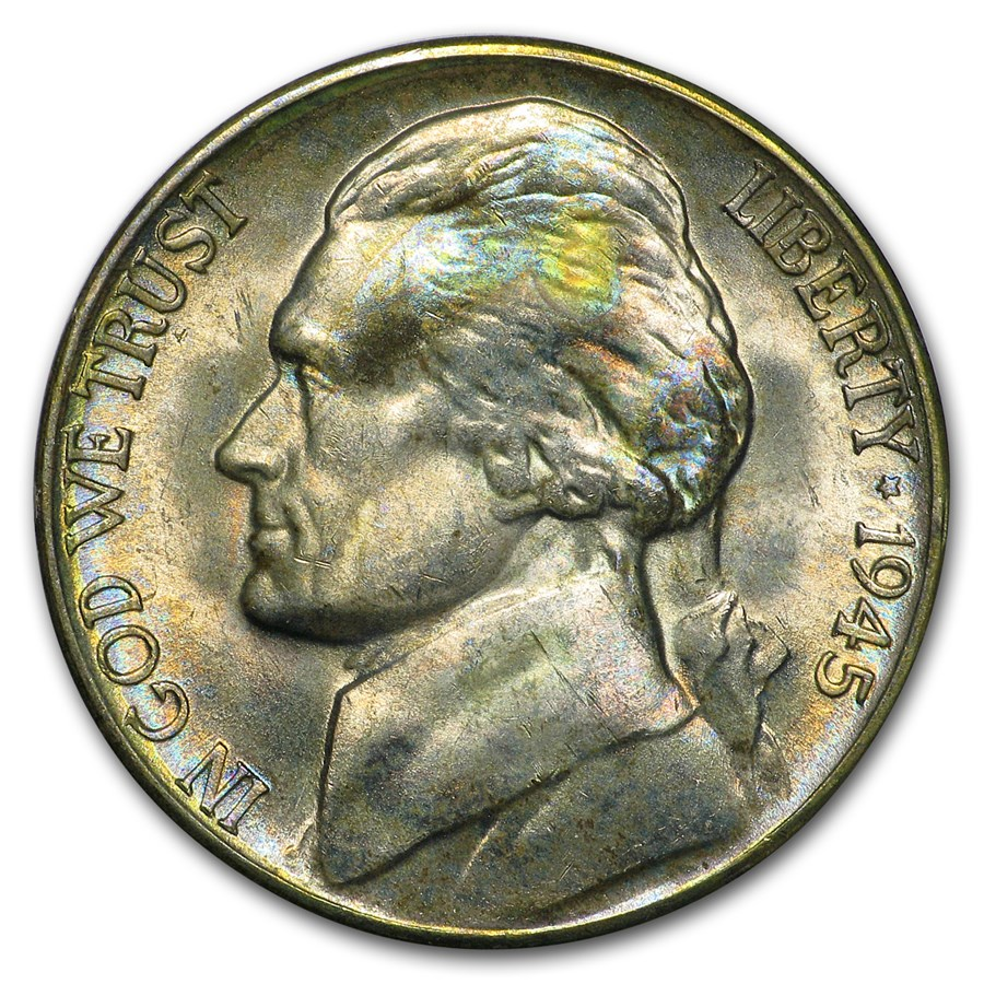 1945-D Silver Wartime Jefferson Nickel BU