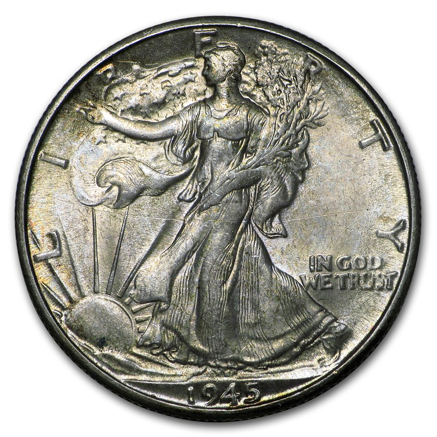 1945-D Walking Liberty Half Dollar BU