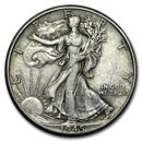 1945-D Walking Liberty Half Dollar XF