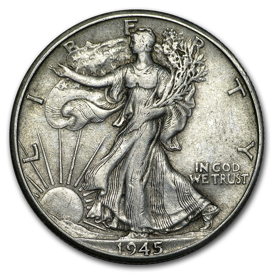 1945-D Walking Liberty Half Dollar XF