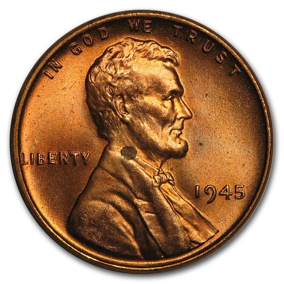 1945 Lincoln Cent BU (Red)