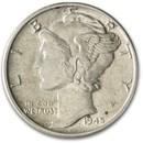 1945 Mercury Dime AU