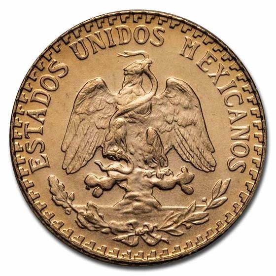 1945 Mexico Gold 2 Pesos BU (New Dies Restrike)
