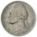 1945-P Silver Wartime Jefferson Nickel AU