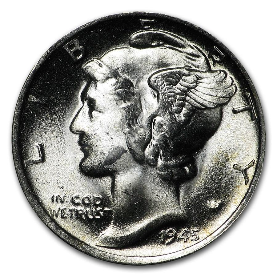 1945-S Mercury Dime BU (Micro-S)