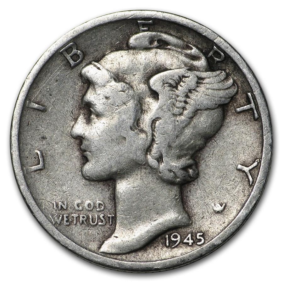1945-S Mercury Dime Good/VF