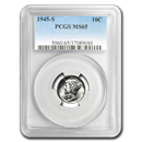 1945-S Mercury Dime MS-65 PCGS