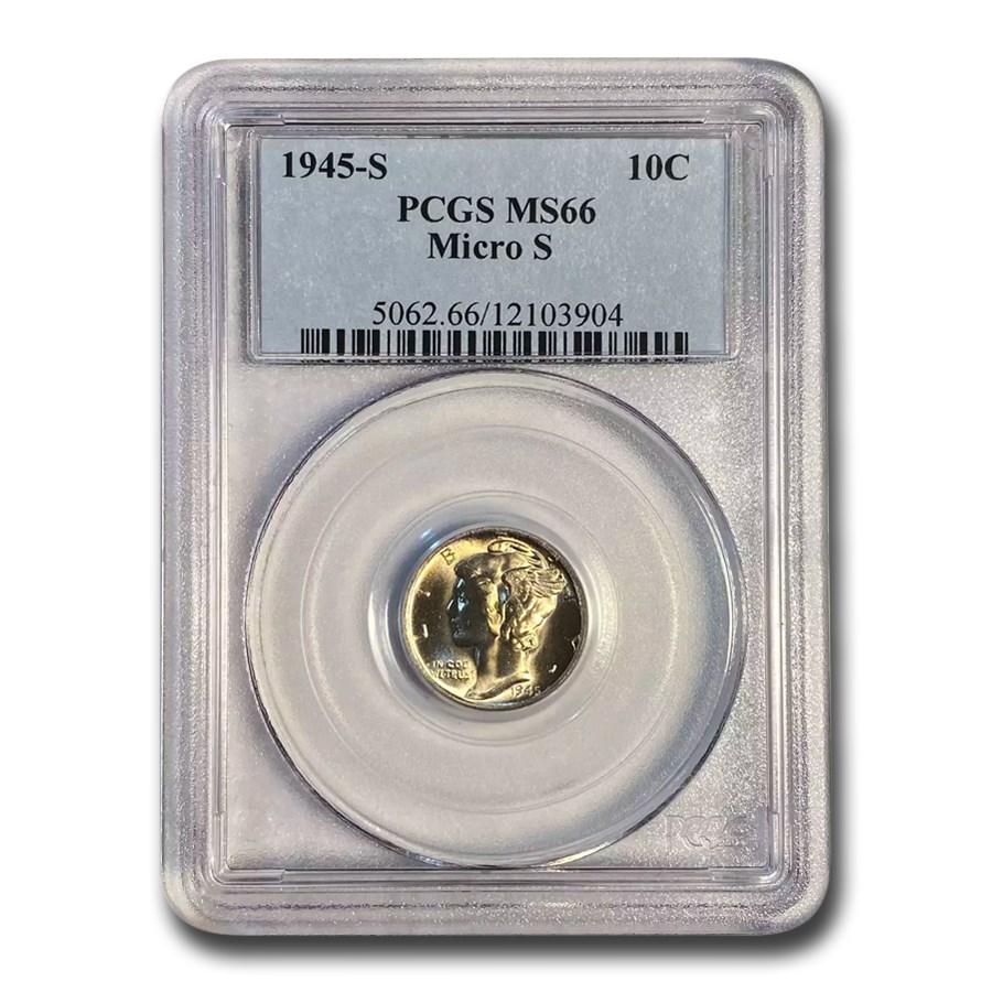 1945-S Mercury Dime MS-66 PCGS (Micro S)