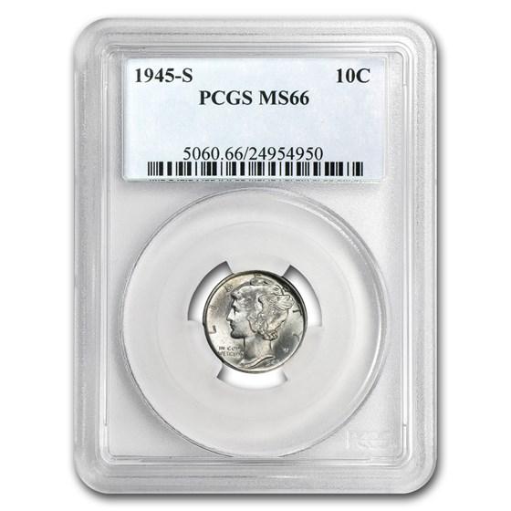 1945-S Mercury Dime MS-66 PCGS