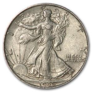 1945-S Walking Liberty Half Dollar AU