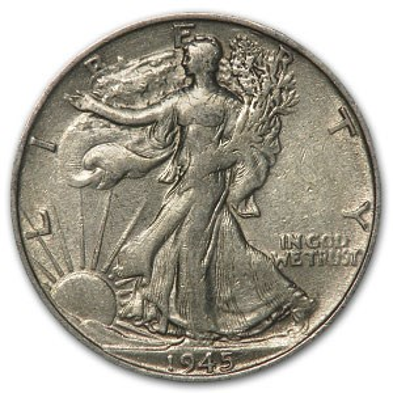 1945-S Walking Liberty Half Dollar Fine/VF
