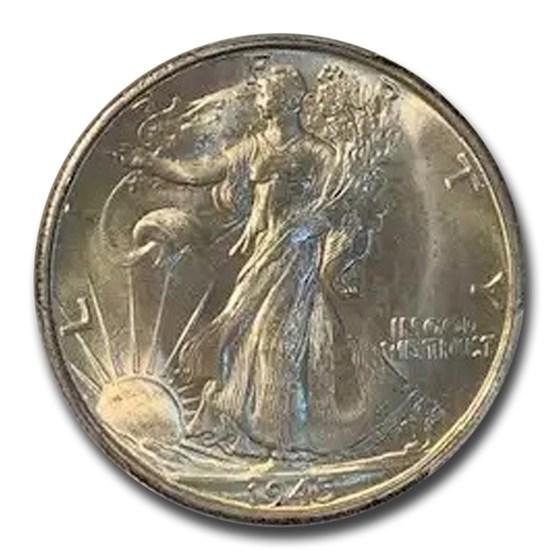 1945-S Walking Liberty Half Dollar MS-66 PCGS