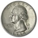 1945-S Washington Quarter AU
