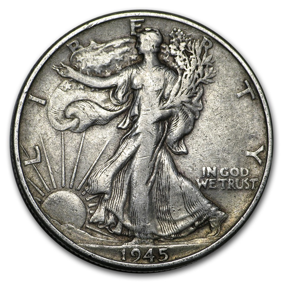 1945 Walking Liberty Half Dollar Fine/VF