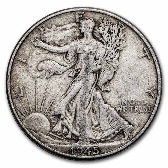 1945 Walking Liberty Half Dollar XF