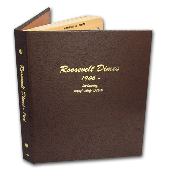 1946-2019 Roosevelt Dime Set (237 coins, Dansco Album)