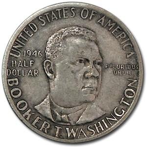 1946-51 Booker T. Washington Half Dollar Commem XF
