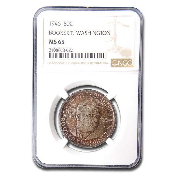 1946 Booker T. Washington Half Dollar MS-65 NGC (Toned)