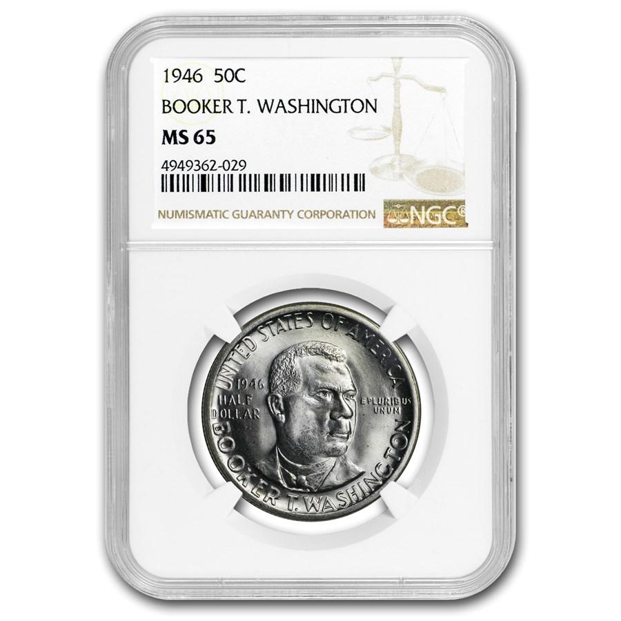 1946 Booker T. Washington Half Dollar MS-65 NGC