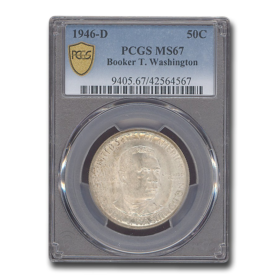 1946-D Booker T. Washington Half Dollar MS-66 PCGS