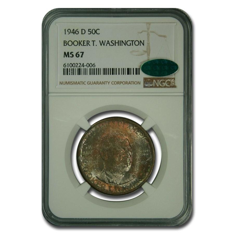 1946-D Booker T. Washington Half Dollar MS-67 NGC CAC