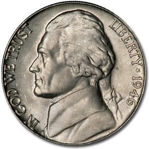 1946-D Jefferson Nickel BU